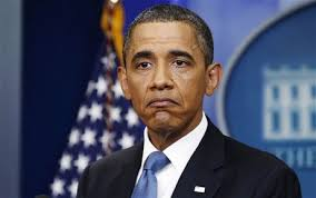 Barack Obama traurig